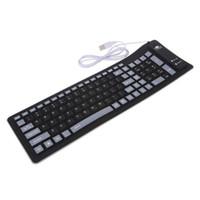 ingrosso tastiera senza fili pieghevole mini-USB Wired Keyboard 103 Chiavi in silicone morbido tastiera pieghevole impermeabile