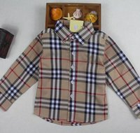 Wholesale clothes for kids resale online - Boys Shirt Children Plaid Long Sleeve Single Breasted Shirts England Style Kids Designer Brand Clothes For Boy Tops