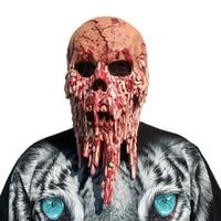 damla gemi kostümleri toptan satış-Kanlı Zombi Maskesi Erime Yüz Yetişkin Cadılar Bayramı Lateks Kostüm Walking Dead Cadılar Bayramı Korkunç 1a7 Drop Shipping