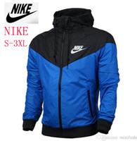 hoodie impermeável mulheres venda por atacado-NOVO fino windrunner Homens Mulheres NKIE sportswear qualidade tecido impermeável Homens jaqueta esportiva Moda zipper hoodie plus size 3XL # 758