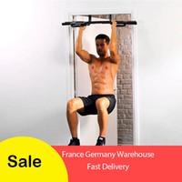 vücut çeker toptan satış-Toplam Üst Vücut Egzersiz Bar Kapalı Spor Chin-up Ekipmanları Taşınabilir Ayarlanabilir Egzersiz Ups Kapı Yatay Çubuk Çekin