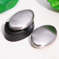ingrosso odore di bar della cucina-Odore Magic Soap Remover in acciaio inox Forma ovale Deodorare Odore Eliminare al dettaglio Kitchen Bar Odour Remover wh0156