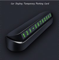 Wholesale styling car parts for sale - Group buy Universal Drawer Style Car Parts Parking Card Accessories Vehicle Car Temporary Parking Card Phone Number Plate Hidden