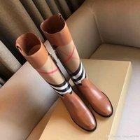 ingrosso sulle mode di boot del ginocchio-2018 Stivali donna vendita calda nuovo autunno inverno marchio di moda stivali da moto Martin antiscivolo stivali taglia 35-39