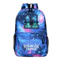 kız okul sırt çantaları satılık toptan satış-Stranger Şeyler Sırt Çantası Sıcak Satış Erkekler Kadınlar Erkek Kız Okul Sırt Çantaları Gençler için Güzel Okul Çantaları Dizüstü Sırt Çantası