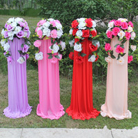 Wholesale New Arrival Wedding Decoration Road Cited Flower Basket Roman Column Sets for Party Shopping Mall Hotel Opening Props Centerpieces