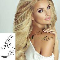 Kaufen Sie Im Großhandel Feder Handgelenk Tattoo 2019 Zum Verkauf