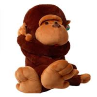 большая мягкая плюшевая обезьяна оптовых-70-130см Огромный Мягкий Большой рот Обезьяна Животное Плюшевые мягкие игрушки Длиннорукий Объятие Орангутанга Хип-Хоп Обезьяна фигурка гориллы подушка
