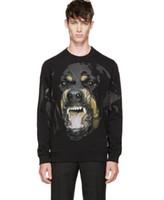 forro polar al por mayor-Primavera 2019 Sudaderas con capucha para hombre Nueva marca popular Big Dog Pullover con sudaderas con capucha de lana para los amantes sueltos