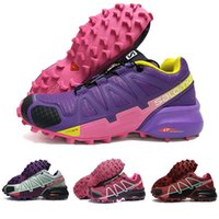 zapatos morados oscuros al por mayor-Mujeres Speed Cross 4 IV CS rojo oscuro rosado púrpura zapatos al aire libre transpirable atletismo femenino malla de esgrima zapatos deportivos sneaker 36-41