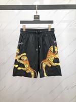homens preto calças leopardo impressão venda por atacado-2019 NOVA moda Verão dos homens de impressão de leopardo Basculador Esportivo Calções Finas Homens Calças Curtas Pretas Masculinas Academias de Fitness Shorts para treino