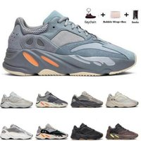 Wholesale mens runing shoes resale online - with box kanye west Vanta wave runner Inertia Tephra Blue Oat Alien Mist Alvah Azael runing Mens shoes Women Sneakers