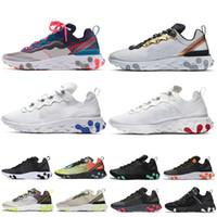 tinte amarillo al por mayor-Nike react element 87 SHIFT Stability Running Shoes negro blanco atlético exterior Deportes Jogging zapatos entrenador zapatillas mujeres zapato envío gratis