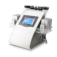liposuccion de cavitacion laser al por mayor-Nueva Llegada Modelo 40k Liposucción Ultrasónica Cavitación 8 Pads Láser Vacío RF Cuidado de la Piel Salón Spa Máquina de Adelgazamiento Equipo de Belleza