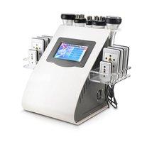 ingrosso apparecchiature ad ultrasuoni-Nuovo arrivo Modello 40k Ultrasuoni liposuzione Cavitazione 8 Pads Laser vuoto RF Cura della pelle Salone Spa che dimagrisce macchina Attrezzature di bellezza