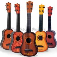 klassische gitarren groihandel-Mini 16 zoll Anfänger Klassische Sichere einfache Ukulele Gitarre 4 Saiten Pädagogisches Musikinstrument Spielzeug für Kinder Weihnachtsgeschenk