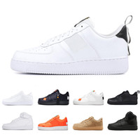 zapatos de corte alto para las mujeres al por mayor-Nike air force 1 shoes Zapatos casual baratos corte alto bajo utility black Dunk Flyline 1 Zaaptillas clásicas de skate para mujer hombre White Wheat Zapatillas Deportivas