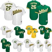 oakland basebol jérsei venda por atacado-Camisolas de Atletismo de Oakland, Matt Chapman, Rickey Henderson, Khris, Davis, Rickey, Henderson, Jose, Canseco, Reggie, Jackson, basebol, jersey
