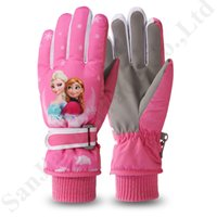 Kids Cosplay Accessories Printed Gloves and Bow Gloves for 2-10 Years Old Girls