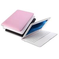nuevas computadoras portátiles netbook al por mayor-Nueva 10.1 pulgadas Netbook Laptop A33 Four nuclear ARM Cortex-A7@1.5GHZ 1G RAM 8GB ROM Android 6.0 Wifi con cámara