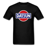 Wholesale chic cars for sale - Group buy Datsun T shirt Wagon Logo T Shirt Men Tshirt Black Clothing Japan Chic Tops Summer Tee Short Sleeve Red Car Streetwear