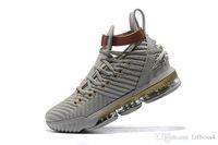 zapatillas de correr talla 16 para hombre al por mayor-Nueva Llegada 16 Zapatillas de correr de oro negro para hombre Zapatillas de baloncesto 16s para hombre Zapatillas deportivas Diseñador de la marca Zapatillas de deporte Tamaño 7-12