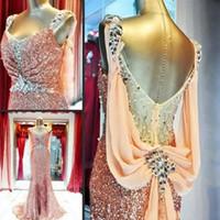 cristais de tecido noite venda por atacado-Elegante Festa Sereia Vestidos de Noite 2019 Dubai Kaftan Correias De Cristal De Lantejoulas Glitter Tecido Prom Vestidos para As Mulheres Usam