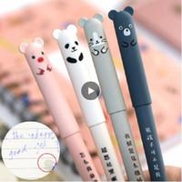 Wholesale cute erasable pen for sale - Group buy Cute Cat Erasable Pens Kawaii Cartoon Magic Ballpoint Pens For Kids Girls Gifts School Writing Supplies Novelty Stationery