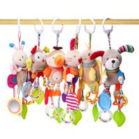 kaninchen hund spielzeug großhandel-BBSKY Bär Kaninchen Eule Hund Papagei Biene Turtle Sound Musik Äolischen Glocken Hängen Spielzeug Außenhandel Export Krippe Hängen Plüsch Spielzeug Baby Spielzeug