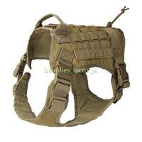 freie taktische weste großhandel-K9 Tactical Training Dog Weste Harness Militär Einstellbar Molle Nylon Große Hundeausrüstung Kostenloser Versand