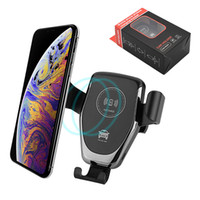 Wholesale blackberry phone holders for sale – best QI Car Charger Fast Wireless Cell Phone Chargers Gravity Compatible Charging Car Mount Phone Holder For iPhone XS Max Xr X Samsung S9