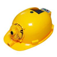 hava kaskları toptan satış-Solar Şarj Güç Bankası Klima Soğutma Fanı Açık Çalışma Sabit Şapka İnşaat İşçisi Kask.