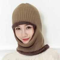 очарование женщин шляпы оптовых-Charming Multi Functional Knit Cap Balaclava Mask Winter Wool Hats Adult Men And Women Beanies Thick Mask