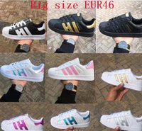Wholesale original shoes for sell for sale - Group buy Hot sell spring fashion Men Women Original superstar super shoes golden sneakers Skateboarding smith Flat shoes for men big size36