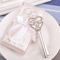 Wholesale weddings souvenirs giveaways for sale - Group buy 20pcs Party Favors Souvenir Wedding Gifts Personalized Beer Opener Heart Shape Opener Guest Presents For Guests Giveaway
