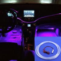 lumières de câble de fibre optique achat en gros de-Mini 1.5W DC12v utilisation voiture optique Fiber Light Engine illuminateur avec 3 mètres de côté Glow fibre câble optique livraison gratuite