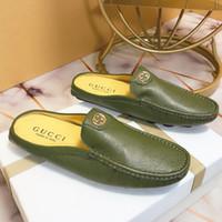 Wholesale italian leather slippers men resale online - New mens designer mens belt with Italian brand sandals mens sandals design bee sandals casual slippers flip original box packaging qu