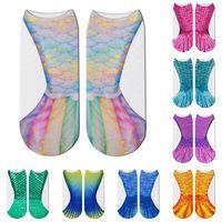 ingrosso scale animali-3D Animal Mermaid Socks Cosplay Calzini stampati a scala di pesce per bambini adulti Calza calda 14 stili C6171