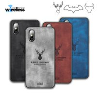 Wholesale Cloths Pattern PC TPU Case For iphone xs x xr samsung S10 PLUS Cloth Cover Elk Deer Bull Bat phone cases covers