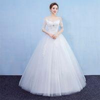 ingrosso abiti da sposa della sposa-2019 top quality new come Fashion Bride's abito da sposa con pizzo sottile colore bianco nuova principessa per sposare
