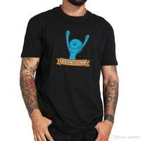 desenho de desenho de impressão de camisetas venda por atacado-Existência É Dor Camisa Mr. Meeseek Dos Desenhos Animados Impresso Engraçado T-shirt de Algodão Design Quente Respirável Tee