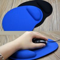 support de poignet pour souris achat en gros de-Tapis de souris d'ordinateur avec gel repose-poignet optique optique Tapis de souris d'ordinateur avec support de poignet pour ordinateur portable Gaming Mouse Pads Rag pour PC