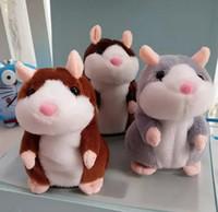 conversa de pelúcia venda por atacado-Falando Hamster Falar Registro de Som Repetir Recheado De Pelúcia Animal Crianças Brinquedo Criança Falando Brinquedos de Pelúcia Hamster