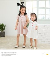 Wholesale kids strawberry clothes for sale - Group buy kids clothes girls Summer Sleeveless Pet Pan Collar Boutique Embroidery Strawberry cotton Design girl Lolita Dress