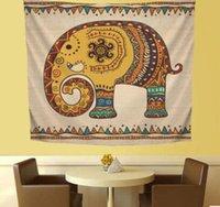 tiere gehangene wand großhandel-Elefant Wandbehang Teppich Tapisserie Tagesdecke Tiermuster Home Dekorationsdruck Wandbehang Teppich werfen Yoga-Matte LJJK1831