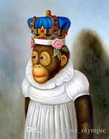 ingrosso pittura a olio di scimmia incorniciata-Lotti all'ingrosso