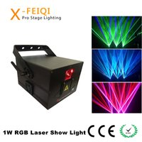 projetor laser rgb ilda venda por atacado-RGB DMX ILDA Lighting DJ Show Animation Mini 1 W Equipamento do projetor de luz a laser para discoteca / iluminação de casamento