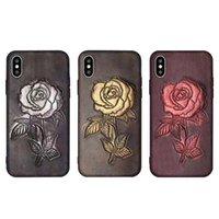 ingrosso flash casi 3d-Per iPhone11 6 / 6p 7plus 8plus 8G 7G iPhonex XS XR MAX Flash Flash 3D Classica serie di intaglio in pelle Custodia design rosa