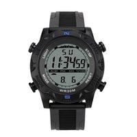 montres lcd de luxe achat en gros de-Moniteur LCD numérique pour hommes de luxe montre sportive LED montre mode casual imperméable à l'eau 30 mètres