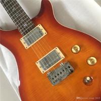 Wholesale left handed electric guitars shop for sale - Group buy New Arrival Custom Shop Guitar Red burst Electric Guitar Rosewood Fingerboard